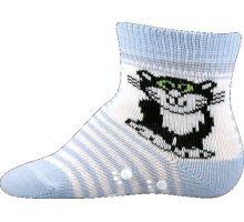 Protiskluzové ponožky Boma světle modrá