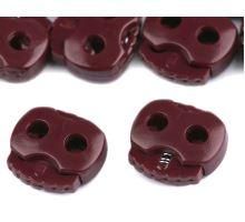 Brzdičky s dvěma dírkami 15x15 mm - bordó