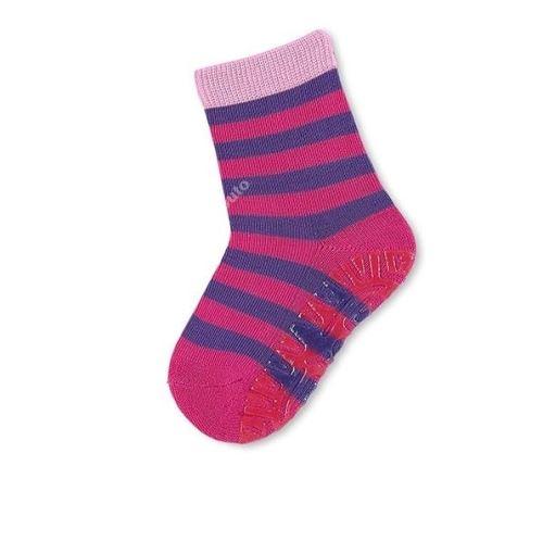 Protiskluzové ponožky Sterntaler - Ringel magenta (17–28)