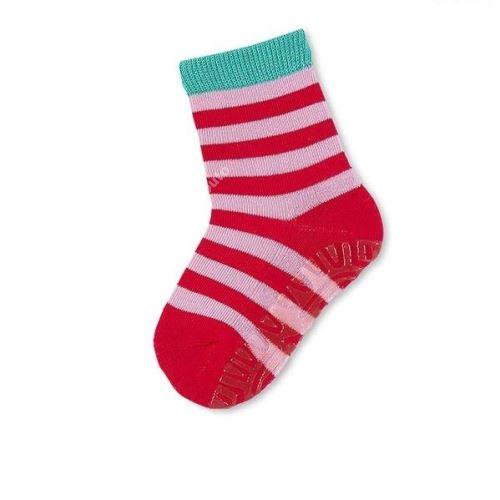 Protiskluzové ponožky Sterntaler - Ringel paprikarot (29–34)