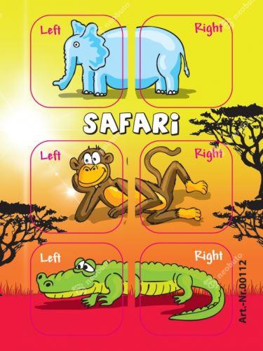 Samolepky Edushoe - safari zvířátka