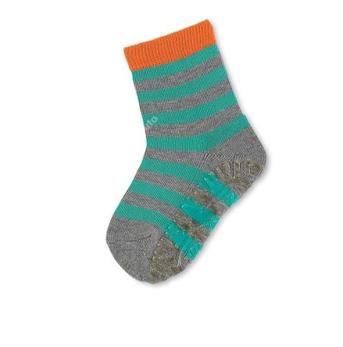 Protiskluzové ponožky Sterntaler - Ringel silber melange (29–34)