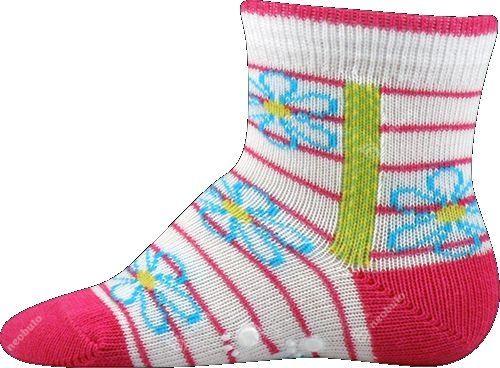 Protiskluzové ponožky Boma magenta